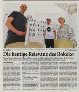 Aachener Volkszeitung vom 9.6.2015
