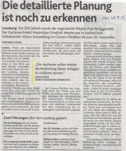 Aachener Nachrichten vom 14.9.2015