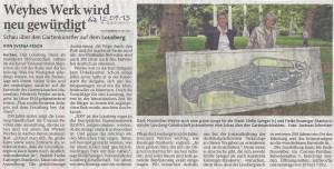 Aachener Zeitung vom 12.9.2015